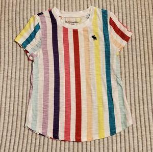 Abercrombie kids Girls Size 5/6 Rainbow Stripe Tee